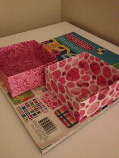 DIY Paper box ~ Fun way to organize.