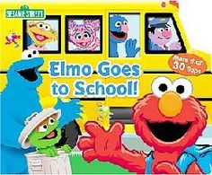 @Overstock - Hop aboard the big yellow school bus with Elmo and his friends and join them for an exciting day at school. Familiar preschool activities like arts and crafts, discovery time, and recess are enhanced by more than 30 fun flaps that reinforce classic lea...http://www.overstock.com/Books-Movies-Music-Games/Sesame-Street-Elmo-Goes-to-School-Board/6339457/product.html?CID=214117 $5.46