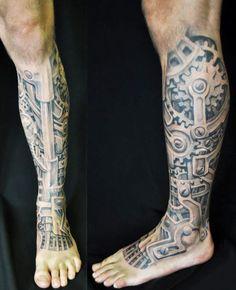 Tattoo Artist - David Klvac | www.worldtattoogallery.com/biomechanical_tattoo