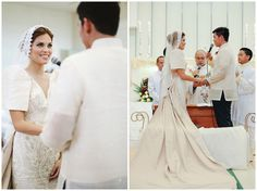 There's always something special about Filipiniana weddings. AJ and Karina's nod to our roots is a mix of traditional and fun–it's classic, stylish, and all around gorgeous. Filipiniana Wedding Theme, Wedding Dress Sleeves, Wedding Dresses, Wedding Blog, Dream Wedding, Filipino Wedding, Bride And Breakfast, Maria Clara, Cebu