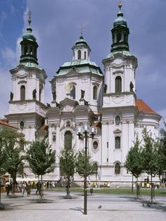 Nicholas' Church, Prague, Completed in 1737 : St Nicholas Church, Saint Nicholas, Prague Old Town, Place Of Worship, Digital Technology, Professional Photographer, Garden Art, Framed Artwork, Mansions