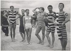 Period swim and beach wear, ca. 1945-1950