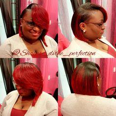 "Bonded Quick Weave Bob | She Cute  IG: Shayes_dvine_perfection FB: Shayes D'vine Perfection Www.styleseat.com/shalandawilliams2 ""Come Get Shayed & Slayed"""