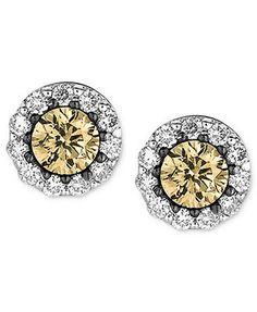Le Vian Diamond 14k White Gold White and Chocolate Diamond Studs (1/2 ct. t.w.)