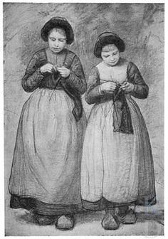 Wally Moes Larensche meisjes, vóór 1904 #NoordHolland #Gooi #Laren