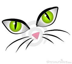 Cartoon Cat Face Eyes Clip Art Royalty Free Stock Images - Image ...