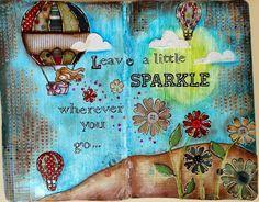JIJI Cards - Art Journal Page 5 - Sparkle