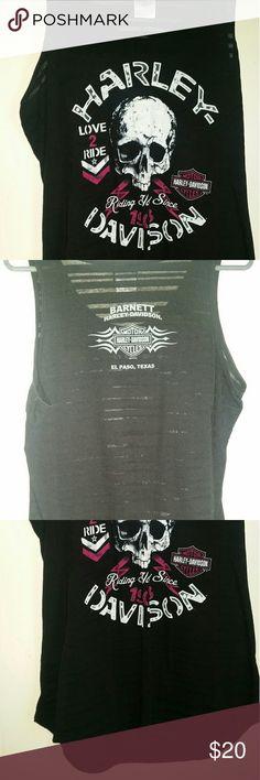 Harley Davidson Tank Top Really nice HD Top, kinda has see thru stripes Harley-Davidson Tops Tank Tops