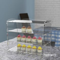 Displaypro Acrylic Bakery Display Cabinet Cakes Donuts Cupcakes intended for sizing 1000 X 1000 Perspex Cake Display Cabinets - Item positioning The way Market Stall Display, Farmers Market Display, Market Stalls, Cake Shop Design, Shop Interior Design, Display Design, Pastry Display, Soap Display, Display Cases