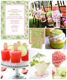 Pink & green luncheon