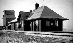 Former Chicago & NorthWestern depot in Wanda, Minnesota built in 1900.