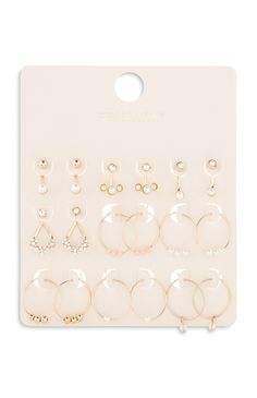 Primark - Gold Multi Pack Earring Set