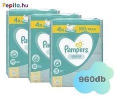 A babák finom bőre megérdemli a megbízható Pampers védelmet. A Pampers Sensitive törlőkendők klinikailag tesztelt kíméletesebbek, mintha csak vizet és vattát használnánk. A pH-egyensúly megteremtésére kifejlesztett különleges Pampers formula a bőr természetes pH-jának megőrzése révén segít a bőrirritáció kialakulásának megelőzésében. Mivel kifejezetten a babák érzékeny bőrének igényeit szem előtt tartva tervezték, ezért a Pampers Sensitive törlőkendő nem tartalmaz parfümöt és alkoholt. A… Products, Alcohol, Gadget