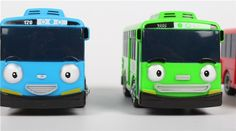 4pcs/set Korean Cute Cartoons garage tayo the little bus model mini tayo - Cars, Trucks & Vans