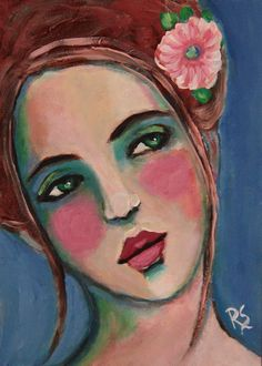 Adalyn Original Portrait Painting by Roberta Schmidt - ArtcyLucy on Etsy
