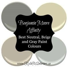 Benjamin Moore Aura has the best range of neutral, beige, greige and gray paint colours. Learn the undertones and tips to help you choose the best colour for your home Most Popular Paint Colors, Best Paint Colors, Paint Colors For Home, House Colors, Floor Colors, Greige Paint Colors, Neutral Paint Colors, Interior Paint Colors, Interior Painting