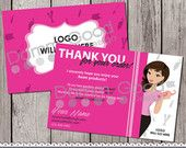 Super cute Avon thank you cards. Great to send to clients. The character can be customized to look like you!
