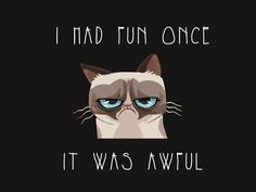 I had fun once...it was awful. Haha i love it