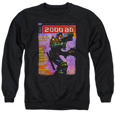JUDGE DREDD/1067 - ADULT CREWNECK SWEATSHIRT - BLACK -