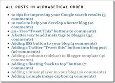 Listing post titles in alphabetical or chronological order