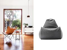 Scandinavian space and grey beanbag chair from 'Product & Place' - inspiring interiors, matched with the Lujo pieces we'd love to see living there!  See them all here: http://www.lujo.co.nz/blogs/lujo-inspiration-blog/14296609-product-place