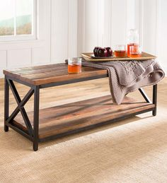 Allegheny Reclaimed Wood Table/Bench | PlowHearth Wood, Wood Storage Box, Coffee Table Wood, Table, Versatile Furniture, Reclaimed Wood Table, Bench Table, Reclaimed Wood, Wood Table