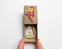 """Iron man Love Card/ Funny Boyfriend Card/ """"You are my Iron Man"""" Matchbox/ LV032 - WILL NOT ARRIVE by Valentine's Day"""