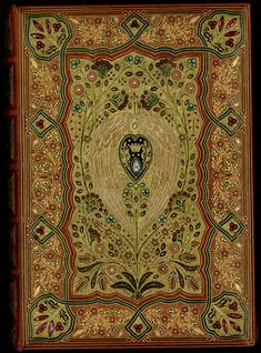 """Front cover of Thomas Moore's """"Lalla Rookh"""" with a jeweled binding by Sangorski & Sutcliffe. Photo by Pete Smith."""