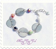 $24.00 Personalized Hand-Stamped Bracelet