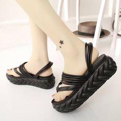 black cute sandals