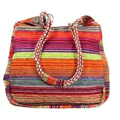 Fabric Handbag Tote Bag Silk Striped Stripy - Red, Orange Peel,... ($66) ❤ liked on Polyvore featuring bags, handbags, tote bags, purses, crochet tote, stripe tote, purple purse, orange tote and orange tote bag