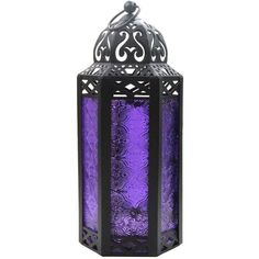Elegant Purple Table/hanging Hexagon Moroccan Candle Lantern Holders ❤ liked on Polyvore featuring home, home decor, candles & candleholders, moroccan style lanterns, moroccan candle, moroccan home decor, purple home accessories and moroccan lantern