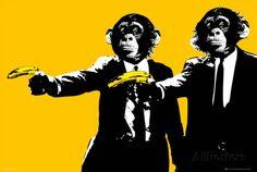 Monkeys - Bananas Prints at AllPosters.com