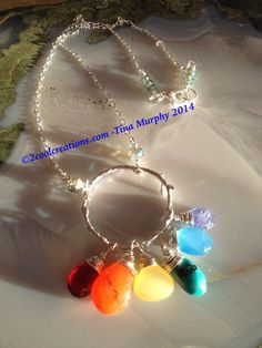 Rainbow Ring necklace 2coolcreations.com
