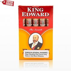 Wrapped in a natural leaf, King Edward Cigars are made with blend of tobaccos from 4 different countries.