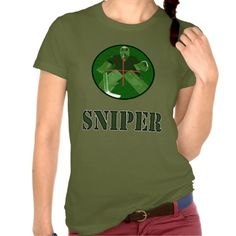 Night Vision Ice Hockey Sniper T Shirt.  Women's American Apparel super soft t-shirt! For many more #hockey t-shirts, please check out my store: http://www.zazzle.com/gamefacegear*/ #HockeyTShirts