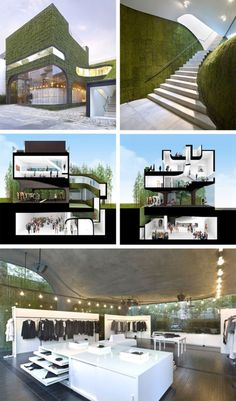20 Must-See Buildings that have Breathing Lush Walls and Green Roofs - 14 Ann Demeulemeester Shop 0