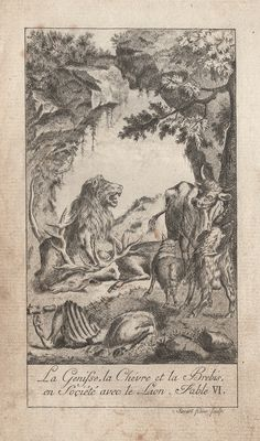 The Heifer, the Goat, and the Sheep, In Company With The Lion