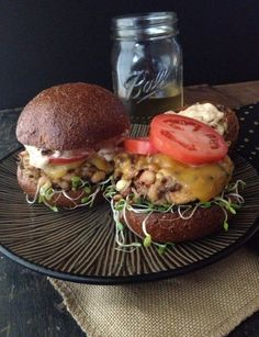 Blackeyed Pea & Wild Rice Veggie Burgers