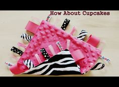 Minky Loopy Taggie Blankie Zebra and Pink Glamour. $12.00, via Etsy.
