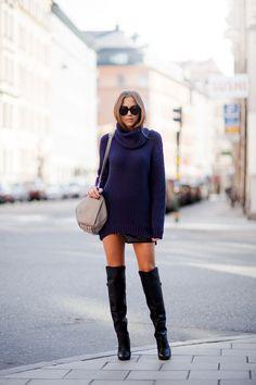 Sweater from IvyRevel // boots from H & M // Karen Walker sunnies // Alexander Wang bag // skirt from IvyRevel