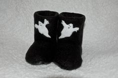 Baby Boots Halloween Ghost by BabyKickz on Etsy, $18.00