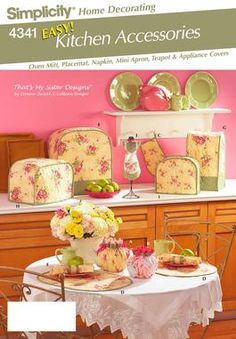 Free Us Ship Simplicity Sewing Pattern 4341 Home Decor Kitchen Items tea cozy appliance covers mitt New Uncut by LanetzLiving on Etsy Easy Sewing Patterns, Simplicity Sewing Patterns, Craft Patterns, Sewing Ideas, Sewing Projects, Sewing Diy, Sewing Tutorials, Diy Projects, Toaster Cover