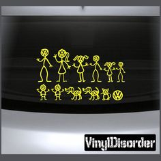 VW Family Vinyl Decal Great For Cars Or Walls Sticker
