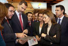 Yogi Queen Letizia wows at Fitur fair in Madrid