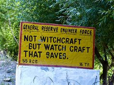 India road signs: Not witchcraft