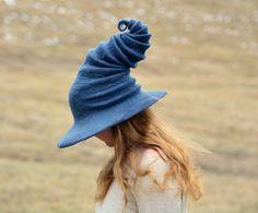 Grey Witch Hat. Wizard Hat. Fantasy Hat. Cosplay Hat. LARP.