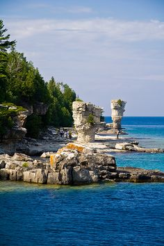 Flowerpot Island, Tobermory, Ontario, Canada  Erika we need to go here, it's in Ontario and it's beautiful, this needs to happen.