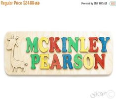 15% OFF THRU OCT Personalized Wooden Name Double by GreenWoodLT