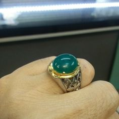 Gem Silica Chrysocolla Bluis Green Sterling Silver From Bacan Island Indonesia